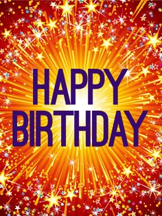 Sparkling & Exciting Happy Birthday Card