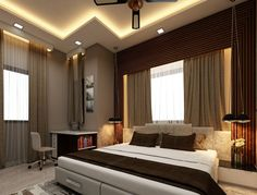 Here you will find photos of interior design ideas. Get inspired! Bedroom Bed Design, Modern Bedroom Design, Modern Kitchen Design, Wooden Partitions, Brick Columns, Concrete Column, Large Homes, Pent House, Dream Decor