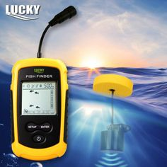 Lucky FF1108-1 Portable Sonar Alarm Fish Finder Echo Sounder 0.7-100M Transducer Sensor Depth Finder with Russian manual #B5 FREE Shipping  #carp