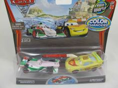 Race Around the World Edition Disney / Pixar CARS 2 Movie 1:55 Scale Exclusive Color Changers 2 Pack Francesco Bernoulli & Lightning McQueen by Mattel. $47.99. Race Around the World Edition Disney / Pixar CARS 2 Movie 1:55 Scale Exclusive Color Changers 2 Pack Francesco Bernoulli & Lightning McQueen. Race Around the World Edition Disney / Pixar CARS 2 Movie 1:55 Scale Exclusive Color Changers 2 Pack Francesco Bernoulli & Lightning McQueen