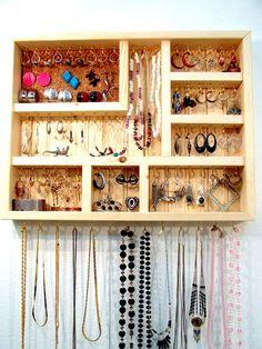 Jewelry Organizer Small Do It Yourself by barbwireandbarnwood, $52.00