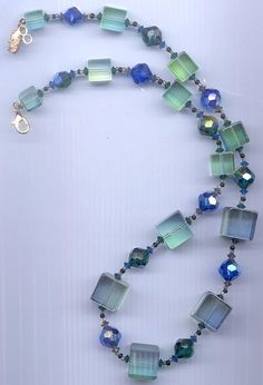 Awesome Vendome necklace  lucite cubes and Swarovski by RNEVE, $150.00