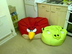 Angry birds beanbag chairs