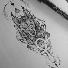 Anubis tattooYou can find Egyptian tattoo and more on our website. Dot Tattoos, Body Art Tattoos, Hand Tattoos, Anubis Tattoo, Horus Tattoo, Tattoo Sleeve Designs, Sleeve Tattoos, Tattoo Sketches, Tattoo Drawings