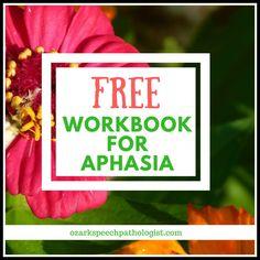 Free Workbook for Aphasia at Ozark Speech Pathologist