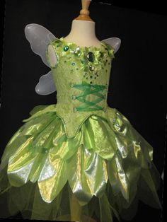 KIDS size awesome tinkerbell style fairy by Spookykittencouture, $235.00