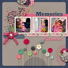 A Pink and Navy Scrapbook Page Color Scheme Recasts Primary Colors |Andrea | Get It Scrapped