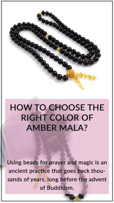 Using beads for prayer and magic is an ancient practice that goes back thousands of years, long before the advent of Buddhism. Yoga Mala, Mala Meditation, Amber Gemstone, Amber Beads, Tibetan Prayer Beads, Buddhist Prayer, Buddha Beads, Beaded Bracelets, Necklaces