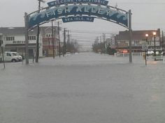 Sea Isle City's Fish Alley during Hurricane Sandy Jersey Girl, New Jersey, Sea Isle City, Storm Surge, Hurricane Sandy, Places Of Interest, Ocean Waves, My Happy Place, See Photo