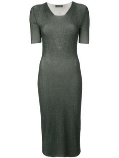 NARCISO RODRIGUEZ FITTED RIBBED KNIT DRESS. #narcisorodriguez #cloth