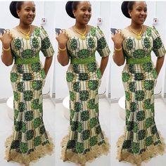Check Out this Beautiful Ankara Styles Long Gown .Check Out this Beautiful Ankara Styles Long Gown Ankara Styles For Women, Kente Styles, Ankara Gown Styles, African Dresses For Women, African Print Dresses, African Attire, African Fashion Dresses, Ankara Fashion, African Women