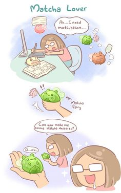 Matcha Lover, Episode 18 of Hammu in WEBTOON. Hammu is a gourmet hamster who sees the world especially delicious food in a very special way. Through Hammu&rsquo Easy Food Art, Cute Food Art, Cute Art, Kawaii Diy, Kawaii Cute, Kawaii Anime, Cute Animal Drawings Kawaii, Cute Drawings, Recipe Drawing