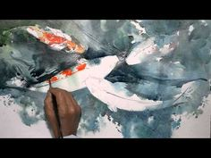 Title: Koi Fish Artist: Jay Alam Music: Uyama Hiroto - One Dream Total Time: 2 Hours Thanks for watching. Koi Painting, Japanese Painting, Painting Process, Painting Videos, Chinese Painting, Watercolor Fish, Watercolor Video, Watercolor Techniques, Watercolor Paintings