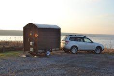 My Lake Sauna – mobile sauna project in Ithaca, NY Mobile Sauna, Gypsy Trailer, Outdoor Sauna, Home Spa, Backyard, Fire, Cabin, Adventure, Tubs