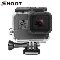 Shoot 40m Underwater Waterproof Case For Gopro Hero 7 5 6 Black Action Camera Protective Housing Case For Go Pro 7 6 Water Proof Case Action Camera Gopro Hero