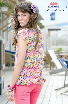 Birgit crochet top - free pattern