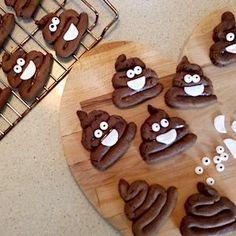 emoji traktatie koek poep Kids Birthday Treats, Birthday Cake For Husband, Cake Birthday, Cookie Recipes, Snack Recipes, Party Treats, Food Humor, Cupcakes, Kids Meals