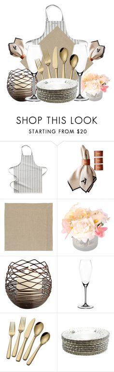 """""""Dream Kitchen: Table settings"""" by elisabetta-negro ❤ liked on Polyvore featuring interior, interiors, interior design, home, home decor, interior decorating, Williams-Sonoma, Mark & Graham, LINUM and Riedel"""