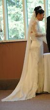 Petite strapless wedding dress with bolero jacket and detachable tail in ivory