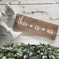 This Is Us. Family Sign. Wood Sign. See this Instagram photo by @sugarkoatedsigns • 32 likes