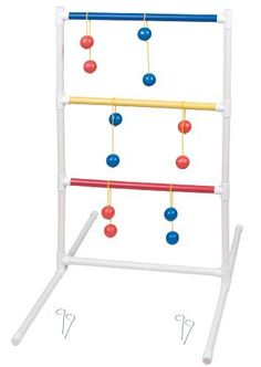 Champion Sports Standard Ladder Ball Set by Champion Sports. $36.21. Join in on the ladder ball craze with the Champion Sports Standard Ladder Ball Set. This fun and easy to learn game has been popping up in campgrounds, tailgate parties, and backyards everywhere! The objective is to fling your bolos onto the three rungs of the ladders for points. The first player to 21 wins! The standard set includes two 1in diameter plastic ladders and 6 weighted polyurethane ...