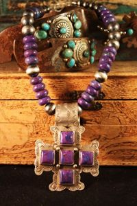 Rocki Gorman Purple Kingman Cross Necklace from Cowgirl Kim