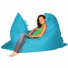 BAZAAR BAG ® - Giant Beanbag AQUA - Indoor & Outdoor Bean Bag - MASSIVE 180x140cm - GREAT for Garden: Amazon.co.uk: Garden & Outdoors