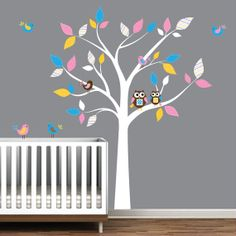 Children Wall Decalswith OwlBirds Baby Boy Girl by Modernwalls, $99.00