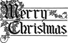 Merry Christmas Typography Image - Beautiful Lettering! - The Graphics Fairy