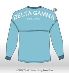 Brothers and Sisters' Greek Store - Delta Gamma Sorority Spirit Jersey- Sail Blue , $39.95 (http://www.brothersandsistersgreekstore.com/delta-gamma-sorority-spirit-jersey-sail-blue/)