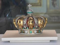 """""""Coronation Crown of Louis XV""""  This is the coronation crown of Empress Eugenie, hence all the eagles.  She was, I think, never actually crowned, but readiness is important."""