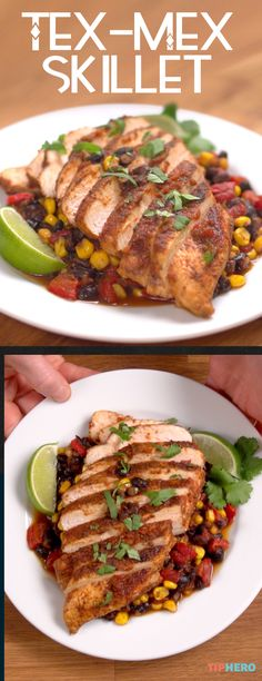 Tex-Mex Skillet Recipe | Shake up your weeknight dinner routine with this one-pot skillet Tex-Mex chicken dish. It couldn't be simpler to throw together, and you can adapt it however you want to include your favorite southwestern ingredients. Check it out, give it a try, and spice up family dinner time!
