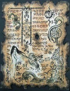 Demon Goddess Shub Niggurath Necronomicon Scrolls magick by zarono