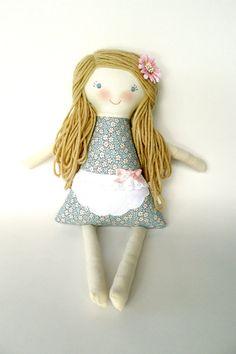 Personalized Rag Doll Cloth Waldorf Doll OOAK by thebuslbarn, $65.00