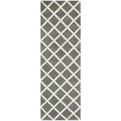 @Overstock.com - A contemporary design and dense, thick pile highlight this handmade rug inspired by Moroccan patterns with today's updated colors.http://www.overstock.com/Home-Garden/Handmade-Moroccan-Dark-Grey-Wool-Rug-23-x-9/7751748/product.html?CID=214117 $117.99