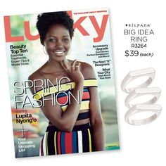 Are you ready for this gorgeousness?! Academy Award Winner Lupita Nyong'o is stacked in #Silpada on the cover of @luckymagazine! Spring has never looked so stunning.