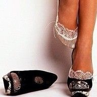 lace socks peeping out from shoes.. so cute