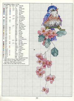 Songbird cross-stitch chart
