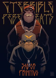 Terrible & Pebens Beats - Sabor Primitivo EP by Coke Navarro, via Behance Graffiti Art, Character Illustration, Illustration Art, Character Art, Character Design, Comics Anime, Arte Hip Hop, Monkey Art, Creation Art