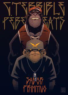 C. Terrible & Pebens Beats - Sabor Primitivo EP by Coke Navarro, via Behance