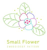 Donationware Small Flower embroidery pattern pdf
