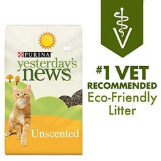 Purina Yesterday's News Non Clumping Paper Cat Litter, Unscented Low Tracking Cat Litter - 30 lb. Bag *** To view further for this item, visit the image link. Paper Cat Litter, Clay Cat Litter, Rabbit Litter, Best Cat Litter, Pet Rabbit, Litter Box, Rabbit Diet, House Rabbit, Amigurumi
