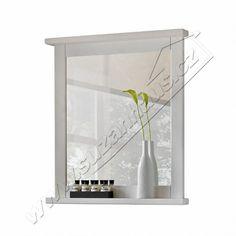 Koupelnové zrcadlo ROMANTIC - 80x70x3cm - BÍLÁ PATINA