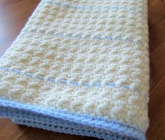 Crochet Baby Blanket/Handmade Baby Blanket/Baby by TheComfyBaby