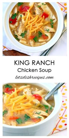 King Ranch Chicken Soup Recipe | All the flavors of the classic Southwest-inspired dish in a delicious, hearty soup!