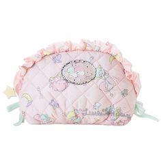 Little Twin Stars Kiki Lala Cosmetic Bag Pouch Frill SANRIO JAPAN
