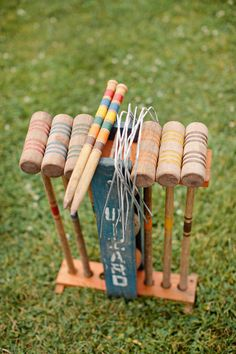 croquet anyone? croquet at the wedding would be fun for an outdoor reception... with a ferris wheel... and fireworks...