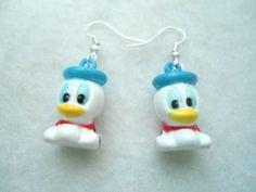 Cute baby donald duck bell cartoon disney charm cartoon girls earrings jewelry