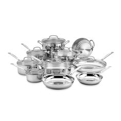 Cuisinart 77-17N 17 Piece Chef's Classic Set, Stainless Steel * Quickly view this special  product, click the image : All Pans for Cooking