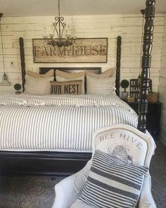 Related posts: Spectacular Farmhouse Master Bedroom Decorating Ideas To Copy Beautiful Farmhouse Master Bedroom Decor Ideas 52 Magnificient Farmhouse Master Bedroom Ideas On A Budget 60 Adorable Modern Farmhouse Bedroom Design Ideas and Decor Farmhouse Style Bedrooms, Country Farmhouse Decor, Modern Farmhouse, Farmhouse Design, Farmhouse Ideas, Rustic Decor, Rustic Bench, French Farmhouse, Rustic Modern